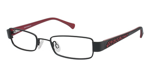 O!O 830021 BLACK W/ RED AND BLK TEMP