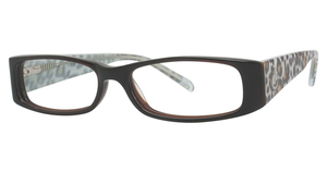 K-12 4068 Brown/Turq Leopard