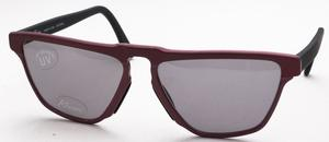 Revue Retro S7403 Matte Burgundy/Shiny Burgundy with Brown Lenses