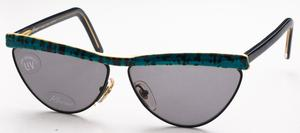 Revue Retro S7401 Aqua and Black with Grey Lenses