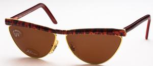 Revue Retro S7401 Red, Gold and Black with Brown Lenses c161