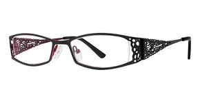 Modern Optical A307 Matte Black/Burgundy