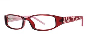 Modern Optical A323 Burgundy/Ivory