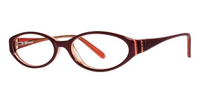 Modern Optical Victoria Burgundy