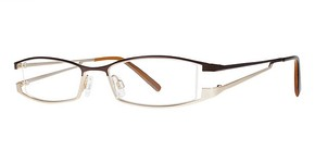 Modern Optical Delora Brown/Matte Gold