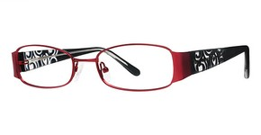 Modern Optical Runway Burgundy/Black