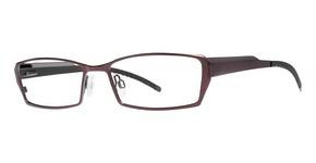 Modern Optical U753 matte burgundy/gunmetal