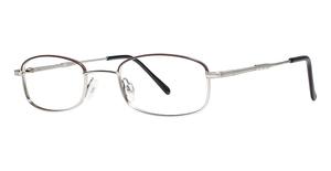 Modern Optical Rare Brown/Silver
