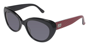 Lulu Guinness L103 BLACK WITH RED WHITE DOTS