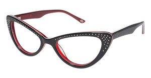 Lulu Guinness L864 Black/Red