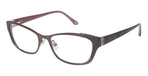 Lulu Guinness L741 Brown with Red