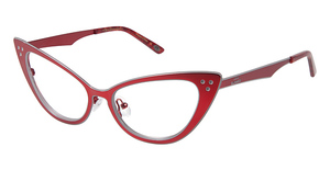 Lulu Guinness L753 Red/Silver