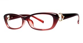 Modern Optical Fringe Burgundy Fade