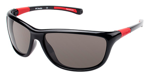 Columbia RIGA Black/Red w/ Polarized Smoke Lenses