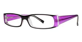 Modern Plastics I Sheer Black/Violet
