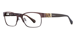 Kenneth Cole New York KC0214 Shiny Brown/Brown & Light Gold