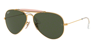 Ray Ban RB3029 Arista Gold with Crystal Green Lenses