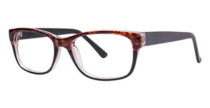 Modern Plastics I Floral Brown/Black