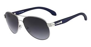 cK Calvin Klein Ck1155S (030) Shiny Silver/Grad Blue Lens