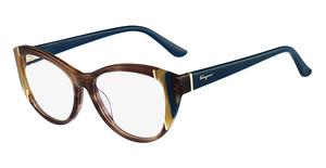 Salvatore Ferragamo SF2683 (216) Striped Brown