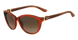Salvatore Ferragamo SF614S (223) Crystal Rust Brown