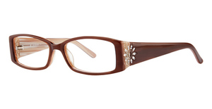Marchon M-WHITNEY (601) Rose Brown Horn