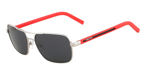 Nautica N8505S (701) Shiny Palladium/ Red