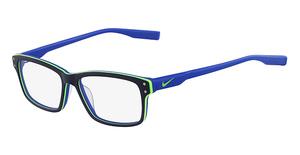 Nike NIKE 7231 (405) MATTE OBSIDIAN/LIME/BLUE