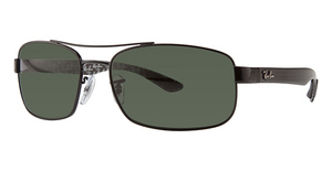 Ray Ban RB8316 Black with Polarized Crystal Green Lenses