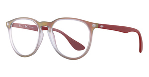 Ray Ban Glasses RX7046 Red Iridescent