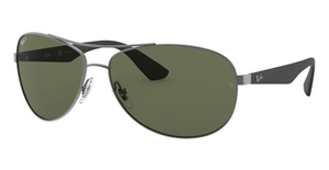 Ray Ban RB3526 Matte Gunmetal with POLAR Dark Green Lenses