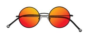 PiWear 2PiR Suns Satin Black with Red Mirror Lenses