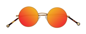 PiWear 2PiR Suns Satin Gold with Red Mirror Lenses
