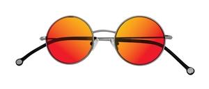 PiWear 2PiR Suns Satin Gunmetal with Red Mirror Lenses