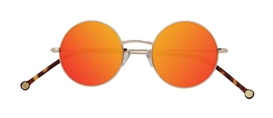PiWear 2PiR Suns Shiny Gold with Red Mirror Lenses