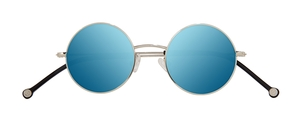 PiWear 2PiR Suns Shiny Silver with Blue Mirror Lenses