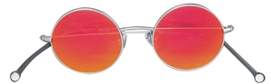 PiWear 2PiR Suns Shiny Silver with Red Mirror Lenses