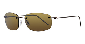 Maui Jim Myna 718 Gloss Dark Brown with Brown Sleeve