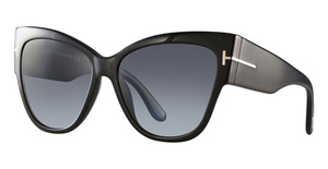 Tom Ford FT0371 Shiny Black with Grey Gradient Lenses