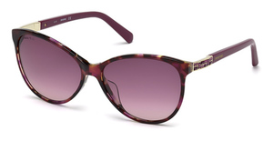 Swarovski SK0123-H havana/other / gradient or mirror violet