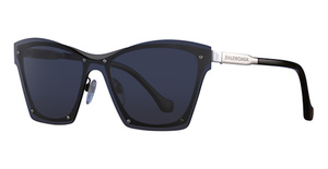 Balenciaga BA0106 Shiny Light Ruthenium / Smoke Mirror