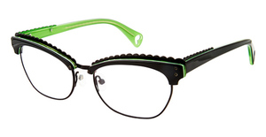 Betsey Johnson Mad of Mod Black Lime 01