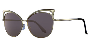 Addicted Brands STEGER Gold With Multicolor Lens