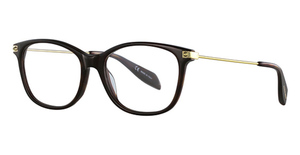 Alexander McQueen AM0094O Avana-Gold-Transparent