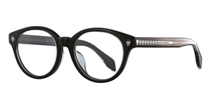 Alexander McQueen AM0028OA Black-Black-Transparent