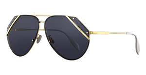 Alexander McQueen AM0092S Gold-Gold-Blue