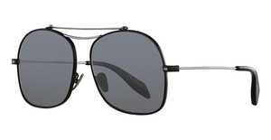 Alexander McQueen AM0088S Black-Ruthenium-Silver