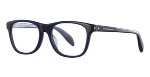 Alexander McQueen AM0076O Blue-Blue-Transparent