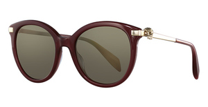 Alexander McQueen AM0083S Burgundy-Gold-Bronze