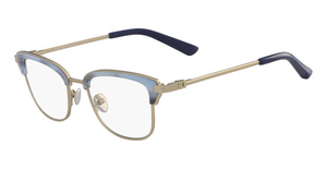 Calvin Klein CK8066 (434) LIGHT BLUE HORN/GOLD